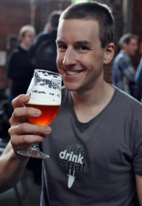 Profile photo of James Davidson drinking beer