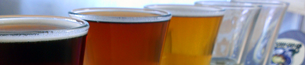 Banner image of beer tasting glasses