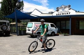 James on a bike out from of the Sweetwater brewery in Mount Beauty