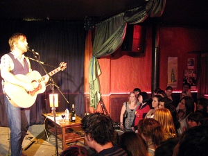 Josh Pyke on stage at Ruby's Lounge