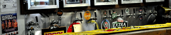 Banner image of Australian mainstream beer taps at a pub in Queensland