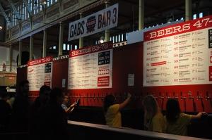 GABS menu board