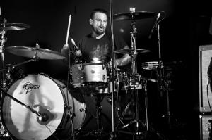 Clint Hyndman plays drums at Ferntree Gully Hotel
