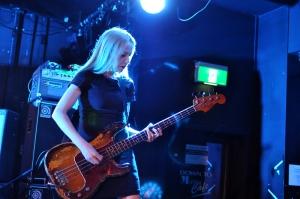 Stephanie Ashworth plays bass at Ferntree Gully Hotel