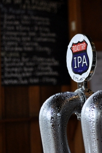A tap font of Holgate Road Trip IPA