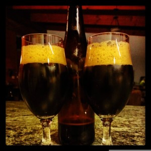 2 glasses of BrewSmith Chocolate Porter