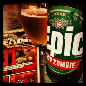 Epic Hop Zombie and Shaun of the Dead bluray