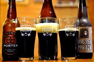 3 glasses of porter