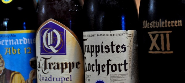 Four bottles of Trappist beers