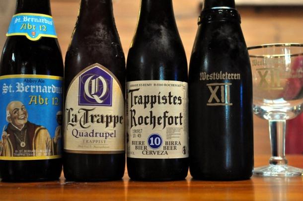 Four bottles Belgian Quadrupel beers