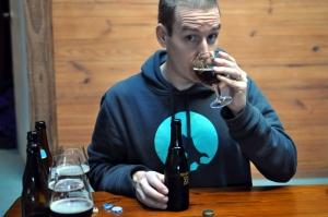James drinks the Westvleteren 12