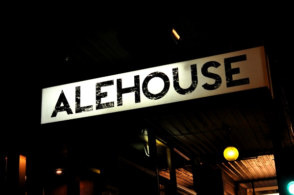 The Alehouse Project lightbox sign
