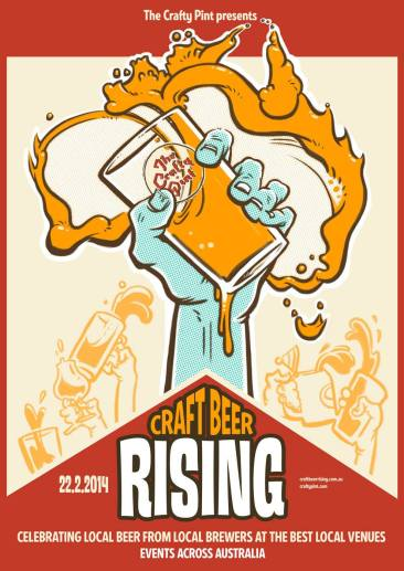 Event poster for Craft Beer Rising