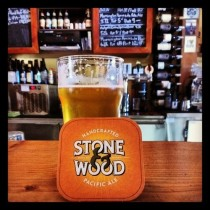 Stone and Wood Pacific ale pint and coaster
