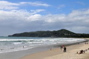 A travel photo of Byron Bay beach