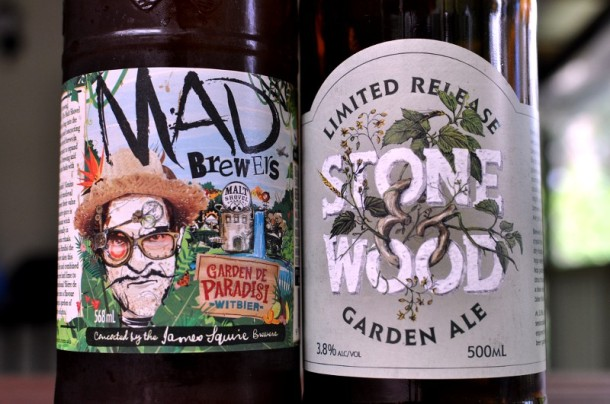 Two bottles of Garden Ales