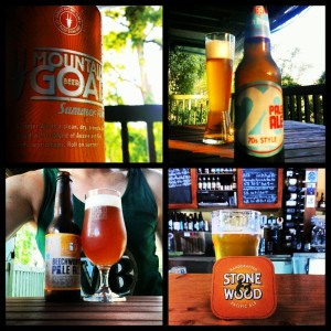 A collage of four summer beers