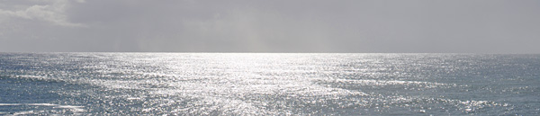A banner image showing the ocean horizon