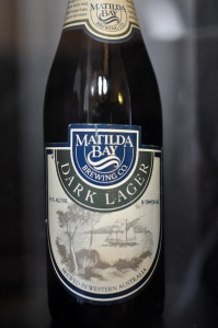 An old bottle of Matilda Bay Brewing Co Dark Lager