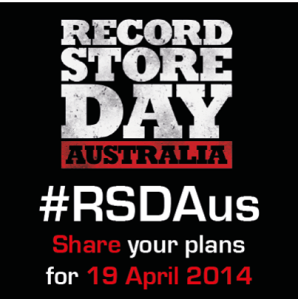 Record Store Day Australia, share your plans with #RSDAus